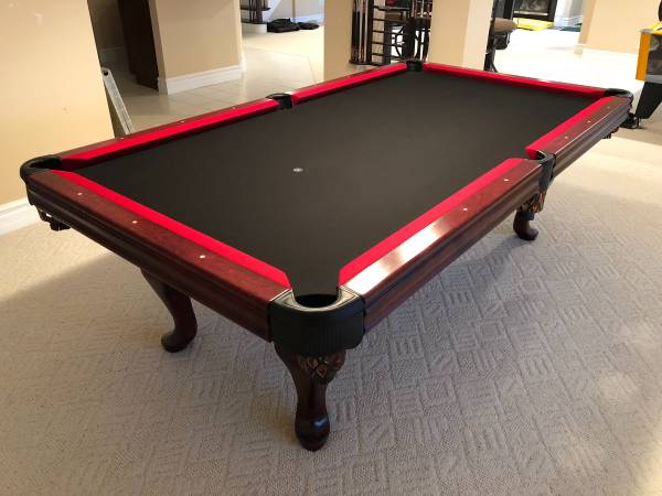 Superieur Custom Black U0026 Red AE Schmidt 8u0027 Professional Pool Table That I Have Almost  4,000 In And This Is Brand New. We Recomend A Profesional Pool Table Moving  ...