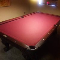 Cherry Wood Slate Top Pool Table For Sale