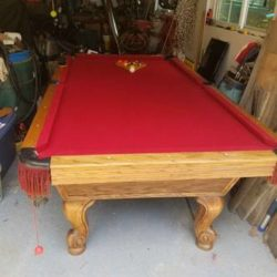 8Ft Olhausen Pool Table(SOLD)