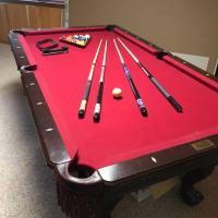 """Pool table, 1"""" slate, 7"""