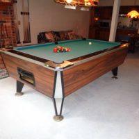 Vintage Coin-Op Irving Kaye Pool Billiard Table