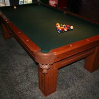 The C.L Bailey CO Pool Table