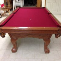American Heritage Red Felt Pool Table For Sale