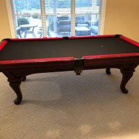 Custom Black & Red AE Schmidt 8' professional Pool Table